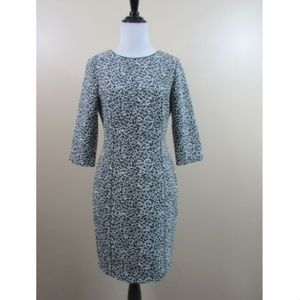 Reiss Toulon Leopard Animal Print Jacquard Dress